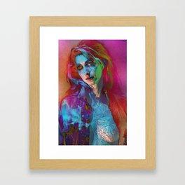 Galaxy Grunge Framed Art Print