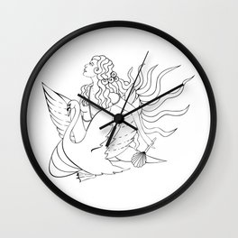 The Lady Aphrodite, The Golden Kypria. Wall Clock