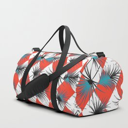 Harlequin rhombuses with palm leaves Duffle Bag