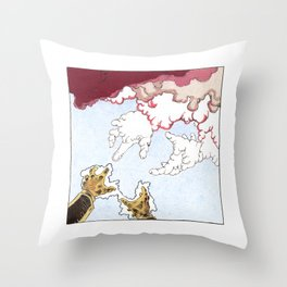 Ability to sculpt clouds Throw Pillow