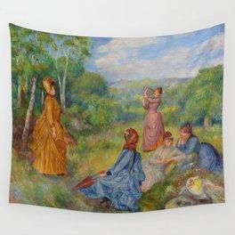"""Auguste Renoir """"Jeunes filles jouant au volant"""" Wall Tapestry"""