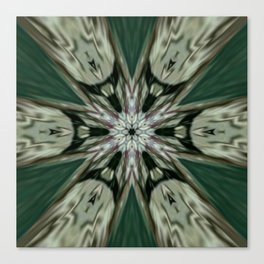 The Green Unsharp Mandala 7 Canvas Print