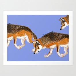 Totem Italian wolf (italicus) Art Print