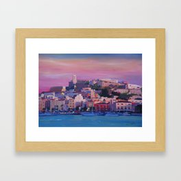 Ibiza Eivissa Old Town and Harbour Pearl of the Mediterranean Framed Art Print