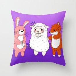 Lambie's Body Suit Problem Throw Pillow