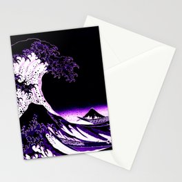 The Great Wave : Purple Stationery Cards