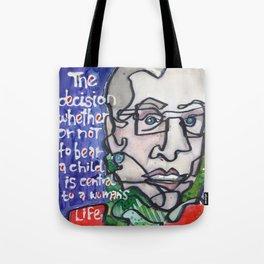 Justice Ruth Bader Ginsburg Tote Bag