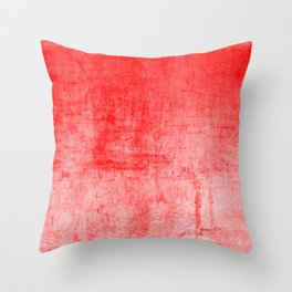 Distressed Coral Textured Canvas Throw Pillow