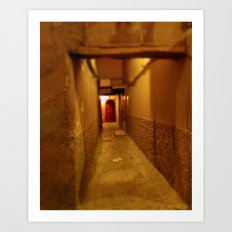 The Red Door in Morocco Art Print