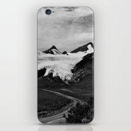 Retro USA Alaska Worthington glacier in summer 1970 iPhone Skin