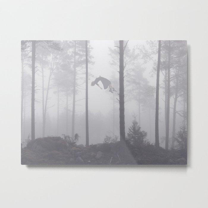 Falling Up Metal Print
