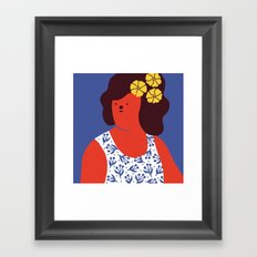 Caribbean girl Framed Art Print