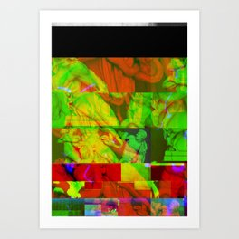 Poseidon Glitch 01 Art Print
