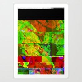 Poseidon Glitch 01 Art Print