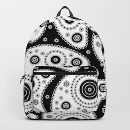 Black And White Paisley Backpack