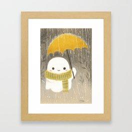 Under the rain Framed Art Print