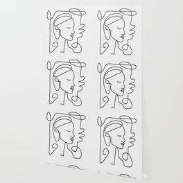 One Line Portrait 1 Wallpaper