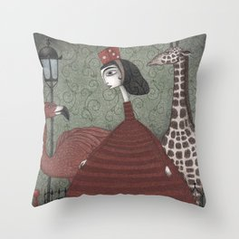 Sunday Excursion to the Zoo Throw Pillow