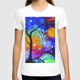 """Winter Sparkle"" Original Whimsical Contemporary Painting, Art by Megan Duncanson MADART T-shirt"