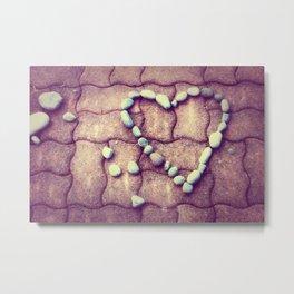 Heart  - JUSTART © Metal Print