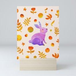 Abstraction_Rabbit_Wonderland_Floral_001 Mini Art Print