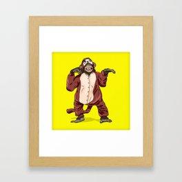 Monkey Onesie Framed Art Print