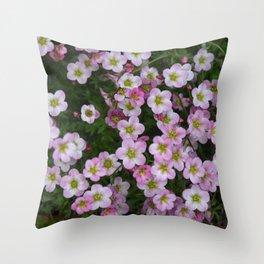 Pink floral spring joy Throw Pillow