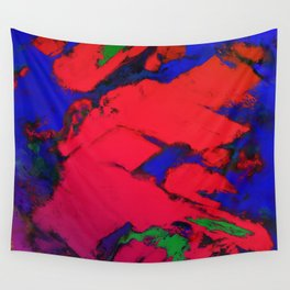 Red erosion Wall Tapestry