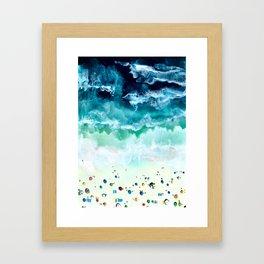 Aerial Beach Framed Art Print