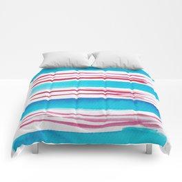 11  |181026 Lines & Color Block | Watercolor Abstract | Modern Watercolor Art Comforters