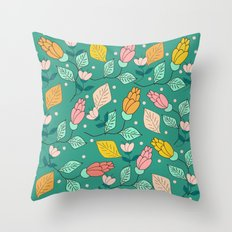 floral pattern 4 Throw Pillow