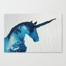 Blue Unicorn Canvas Print