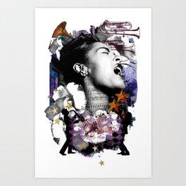 Billie Holiday Art Jazz Singer Powerful Women African American Women Music Art Art Print