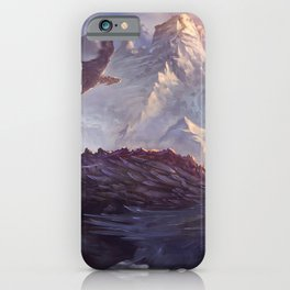 Phenomenal Armored Knights Riding Flying Dragons Ancient Kingdom Ultra HD iPhone Case
