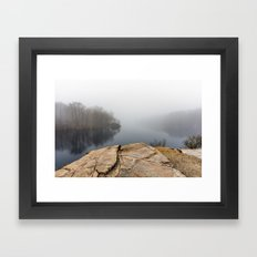 Foggy reflections Framed Art Print