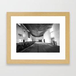 La Chapelle Notre-Dame-du-Haut de Ronchamp - Le Corbusier Framed Art Print