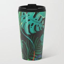 nigth tropical leaves Travel Mug