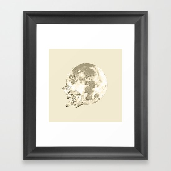 In which a wolfy moon thing happens Framed Art Print
