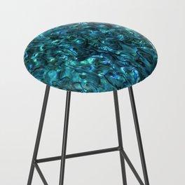 Abalone Shell | Paua Shell | Cyan Blue Tint Bar Stool