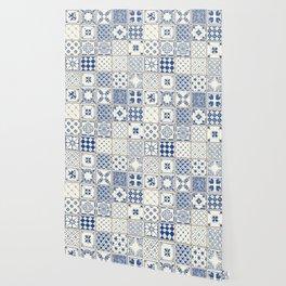 Blue Ceramic Tiles Wallpaper