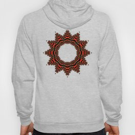 Red Abstract Wreath Hoody