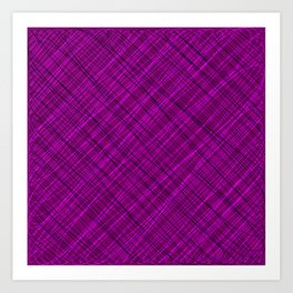 Royal ornament of their pink threads and dark intersecting fibers. Art Print