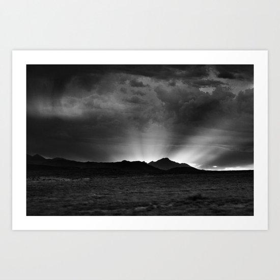 Sunlight Over the Colorado Rockies Art Print