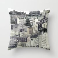 sin city Throw Pillows featuring Sin City by anitaa