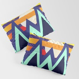 Natural Landscape of Night and Day Geometric Minimalist Abstract art Pillow Sham