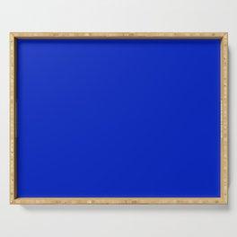 Solid Deep Cobalt Blue Color Serving Tray