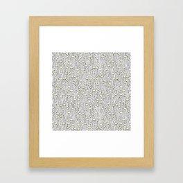 Enokitake Mushrooms (pattern) Framed Art Print