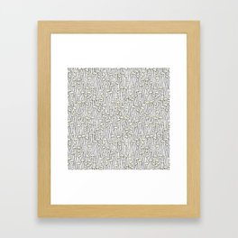 Enokitake Mushrooms (pattern) Framed Art Print