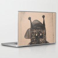 hip hop Laptop & iPad Skins featuring Hip hop cat by KRADA ZHAN ART
