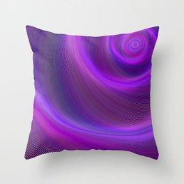 Purple night storm Throw Pillow